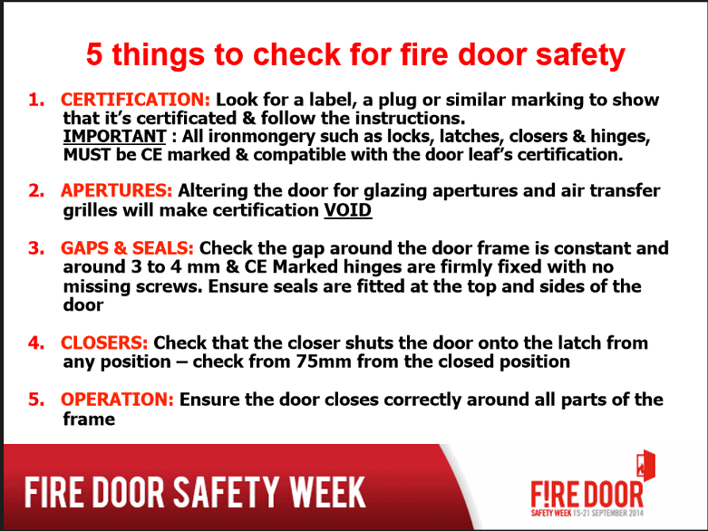 fire door safety week poster sept14