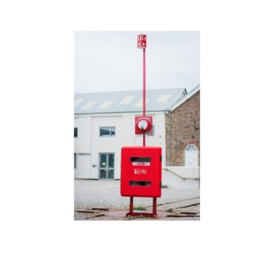 Extinguisher trolley stand - H plate base. New, innovative product