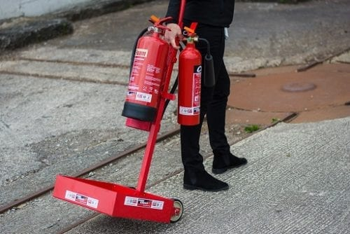 Fire Extinguisher stand - Portable
