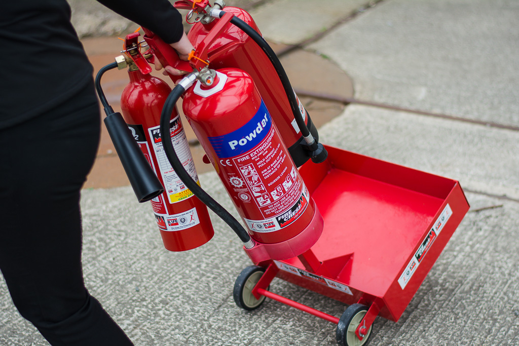 Portable Extinguisher stand – Suited to shows, events, campsite locations