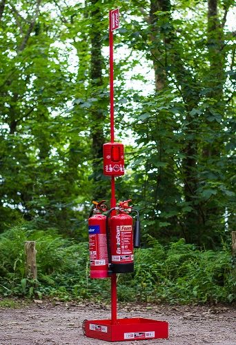 Portable Fire Extinguisher stand - Suited to shows, events, campsite locations